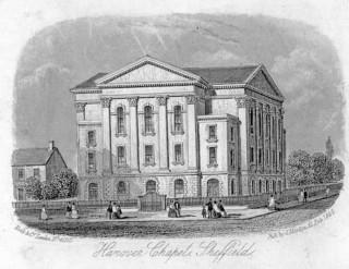 Hanover Chapel, Sheffield in 1860