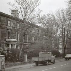 Cars on Broomhall Place, early 1970s.   Photo: Edward Mace