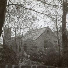 Rear aspect of Broom Hall, early 1970s.   Photo: Edward Mace
