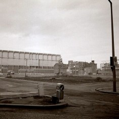 Moore Street substation from Young Street, early 1970s.   Photo: Edward Mace