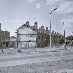 Clarence Street / Ecclesall Rd demolition, 1970s.   Photo: Edward Mace