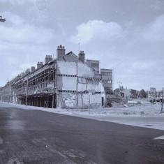 Demolition, Ecclesall Road. 1970s.   Photo: Edward Mace