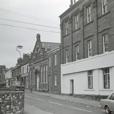 Wright Building (now demolished), Upper Hanover St. 1970s.   Photo: Edward Mace