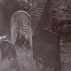 Headstones, Jewish Cemetery, Bowdon Street. 1970s.   Photo: Edward Mace