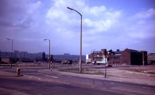 Moorfoot towards St Mary's church, 1980. | Photo: Edward Mace