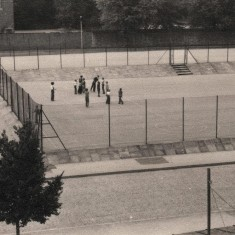 Sports pitch from Broomhall Flats, August 1977 | Photo: Tony Allwright