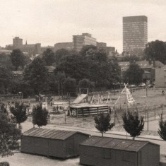 Broomhall adventure playground, bottom of Gell St. August 1977   Photo: Tony Allwright