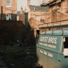 Back of Travis Place, February 1980   Photo: Tony Allwright