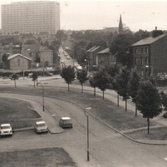 Broomspring Lane from Broomhall Flats, September 1977 | Photo: Tony Allwright