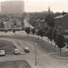 Broomspring Lane from Broomhall Flats, September 1977 | Photo: Tony Allwright