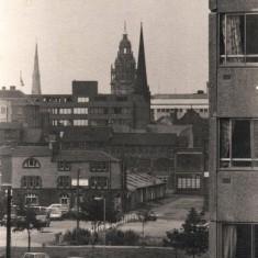 Town Hall from Broomhall Flats, September 1977 | Photo: Tony Allwright