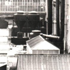 Viners factory roof from Broomhall Flats, May 1978 | Photo: Tony Allwright