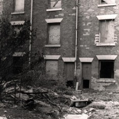 Derelict houses in Broomhall, May 1979   Photo: Tony Allwright