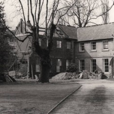 Restoration of Broom Hall from Broomhall Rd, May 1979   Photo: Tony Allwright