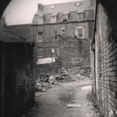 Brunswick St archway towards Havelock Square, May 1979   Photo: Tony Allwright