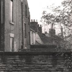Backs of Havelock Square houses, May 1979   Photo: Tony Allwright