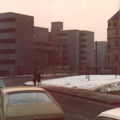 Broomhall Flats and Springfield School, January 1978 | Photo: Tony Allwright