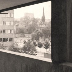 View from Broomhall Flats with St Andrews Church in background, August 1977 | Photo: Tony Allwright