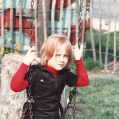 Girl on swing, Broomhall adventure playground. June 1978 | Photo: Tony Allwright