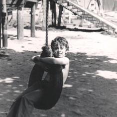 Boy on swing, Broomhall adventure playground. June 1978 | Photo: Tony Allwright