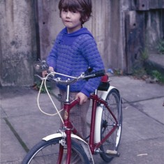 Boy with bike, Broomhall. July 1978 | Photo: Tony Allwright