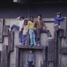 Children, Broomhall Flats play area. July 1978 | Photo: Tony Allwright