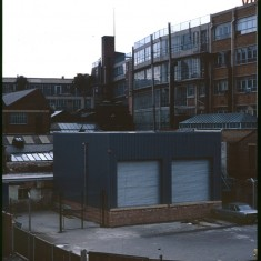 Back of Viners factory from Broomhall Flats, July 1978 | Photo: Tony Allwright