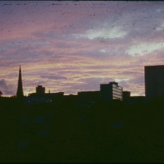 Skyline with evening clouds, July 1978 | Photo: Tony Allwright