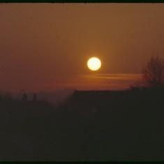 Sunset from Broomhall Flats, December 1978 | Photo: Tony Allwright