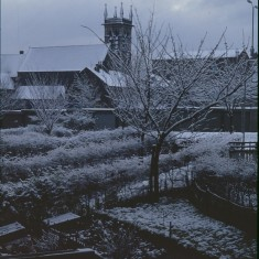 St Silas Church from Broomhall Flats, January 1979 | Photo: Tony Allwright