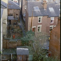 Broomhall yards and rooftops, December 1978   Photo: Tony Allwright