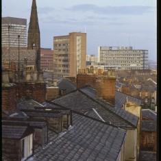 Broomhall rooftops with Drama Studio, December 1978 | Photo: Tony Allwright