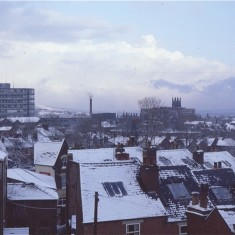 Broomhall rooftops with snow, January 1979 | Photo: Tony Allwright
