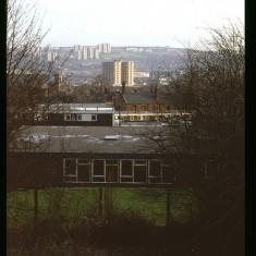 Broomhall Flats in distance, December 1978 | Photo: Tony Allwright