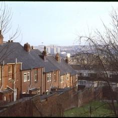 Back of Broomspring Lane, December 1978 | Photo: Tony Allwright