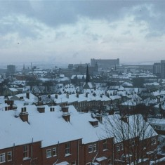 Broomspring Lane and the City under snow, January 1979 | Photo: Tony Allwright