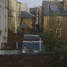 Back yards of Glossop Rd, towards Broomspring Lane. January 1979   Photo: Tony Allwright