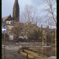 Broomspring Lane building site, January 1979 | Photo: Tony Allwright