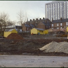 Broomspring Lane / Gloucester St building site, January 1979 | Photo: Tony Allwright