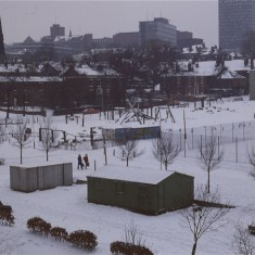 Broomhall adventure playground under snow, February 1979 | Photo: Tony Allwright