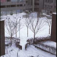 Broomhall Flats in the snow, February 1979 | Photo: Tony Allwright