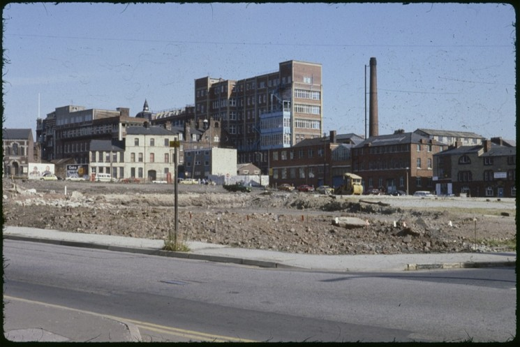 Fitzwilliam St space being cleared for Devonshire Green, September 1979 | Photo: Tony Allwright