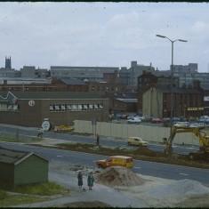 Hanover Way construction and Pryor factory, September 1979 | Photo: Tony Allwright