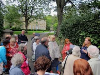 Broomhall Heritage walk 2014 outside Broom Hall