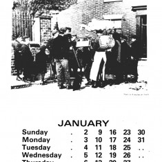 Broomhall Calendar 1983. January: page 1 of 2 | Image: Mike Fitter