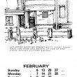 The Broomhall Calendar 1983: February ~ Making the Flicks