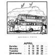 The Broomhall Calendar 1983: April ~ Big Top - Broomhall Circus