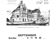 The Broomhall Calendar 1983: September ~ Back to School