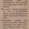 Havelock Street ~ Street Party 1979