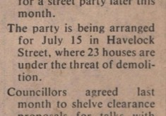 Havelock Street ~ Street Party 1979